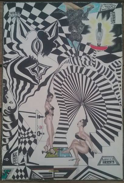 Wall Art - Drawing - Beauty Parlor by Mister Unusual under the pseudonym MasterMind