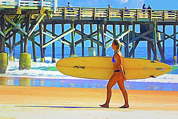 Photograph - Beauty With Long Board by Alice Gipson