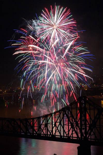 Raccoon Photograph - Beaver County Fireworks  by Emmanuel Panagiotakis