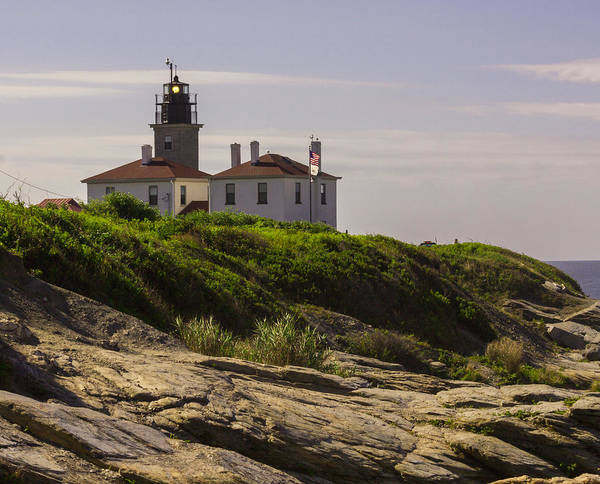 Photograph - Beavertail Lighthouse In Jamestown Rhode Island by Brian MacLean