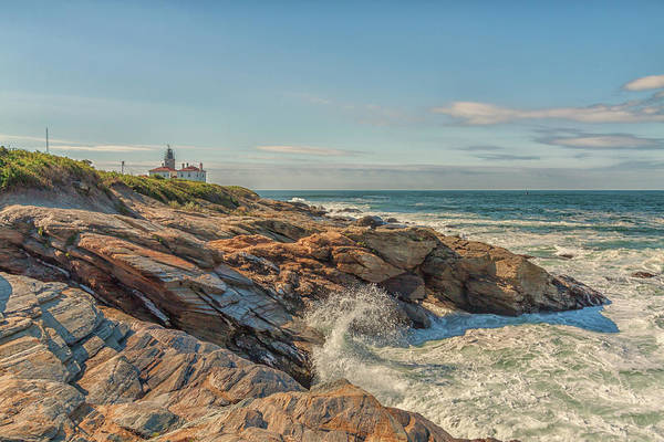 Photograph - Beavertail State Park And Lighthouse by Brian MacLean