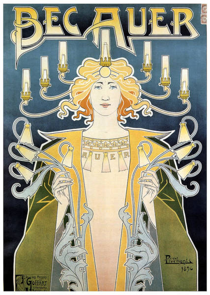 Belgium Mixed Media - Bec Auer - Art Nouveau - Vintage Advertising Poster by Studio Grafiikka