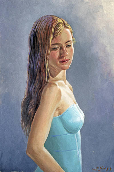 Wall Art - Painting - Becca-different Hairdo by Paul Krapf