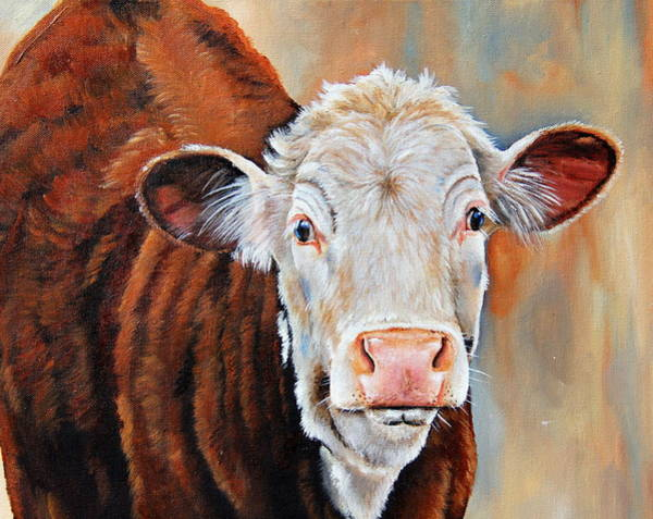Hereford Bull Painting - Becca by Laura Carey