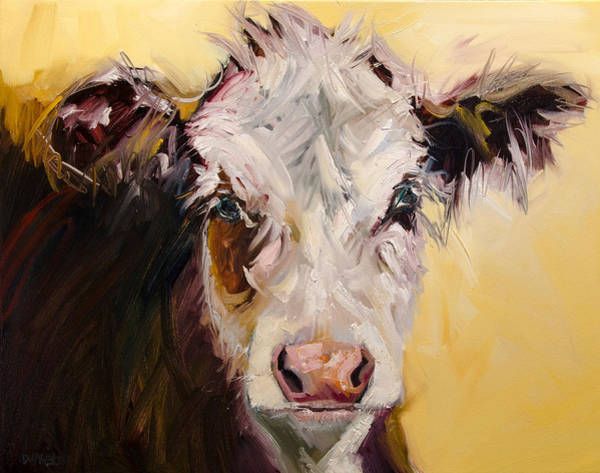 Wall Art - Painting - Bed Head Cow by Diane Whitehead