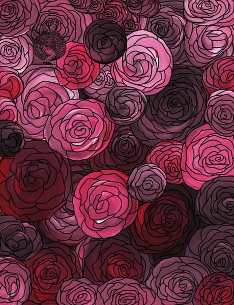 Painting - Bed Of Roses With Black Lace by Barbara St Jean