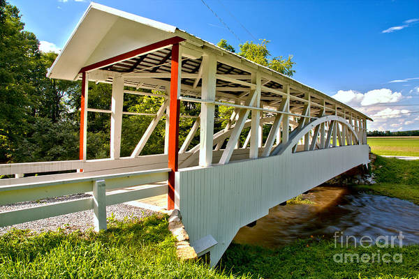 Osterburg Photograph - Bedford Osterburg Covered Bridge by Adam Jewell