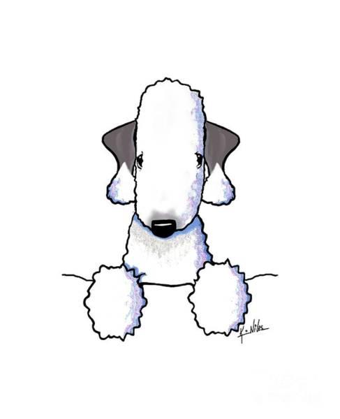 Wall Art - Drawing - Bedlington Terrier by Kim Niles
