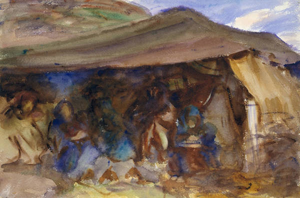 Drawing - Bedouin Tent by John Singer Sargent