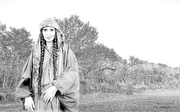 Photograph - Bedouin Woman by Ericamaxine Price