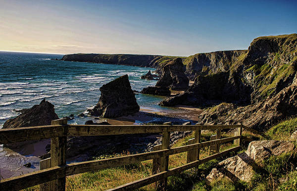 Cornwall Photograph - Bedruthan Rocks by Martin Newman