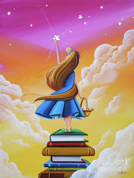 Dreamer Wall Art - Painting - Bedtime Stories by Cindy Thornton