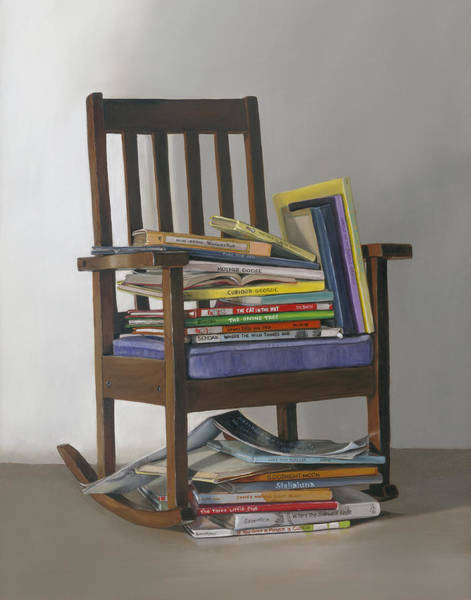 Rocking Chairs Painting - Bedtime Stories by Gail Chandler