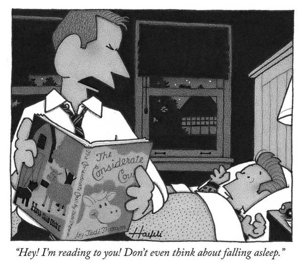 Sleep Drawing - Bedtime Story by William Haefeli