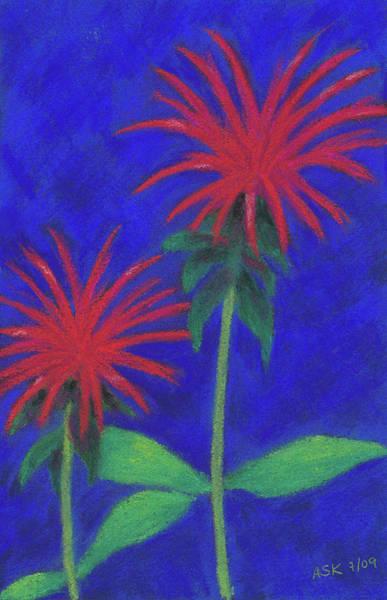 Pastel - Bee Balm Sparklers by Anne Katzeff