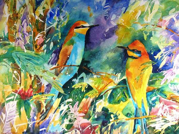 Bee Eaters Art Print