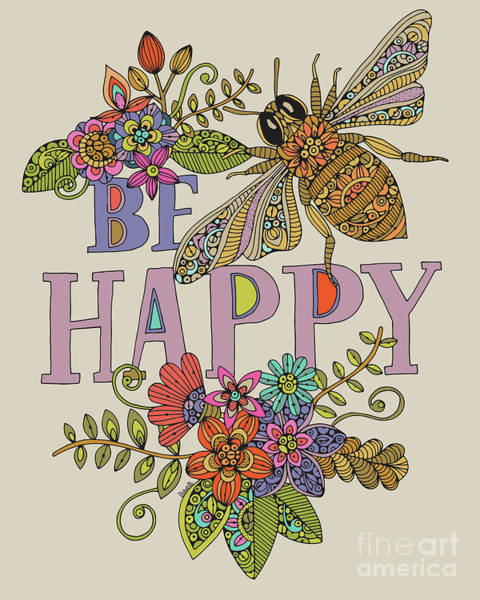 Wall Art - Digital Art - Bee Happy by MGL Meiklejohn Graphics Licensing