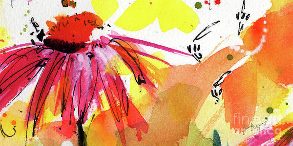 Painting - Bee Leave Me Macro Watercolor And Ink by Ginette Callaway
