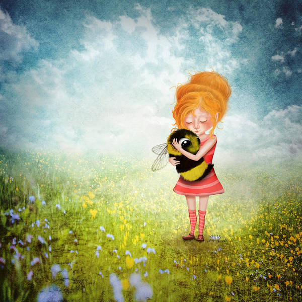 Compassion Wall Art - Digital Art - Bee Whisperer by Laura Ostrowski