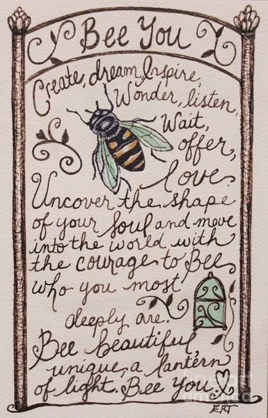 Painting - Bee You by Elizabeth Robinette Tyndall