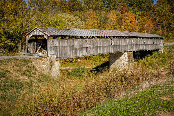 Photograph - Beech Fork Or Mooresville Covered Bridge by Jack R Perry