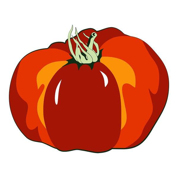 Digital Art - Beefsteak Tomato by MM Anderson