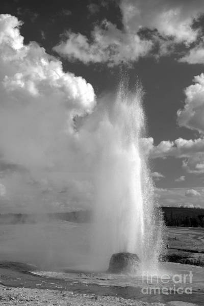 Yellowstone Caldera Photograph - Beehive Eruption Initiation Black And White by Adam Jewell