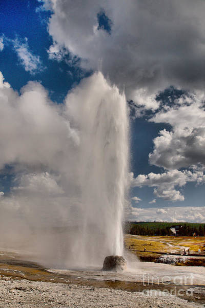 Photograph - Beehive Geyser Eruption by Adam Jewell