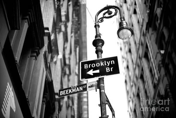 Photograph - Beekman Street New York City by John Rizzuto