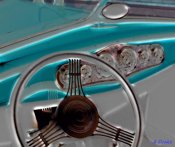Digital Art - Been Driving All Night My Hands On The Wheel by Alec Drake