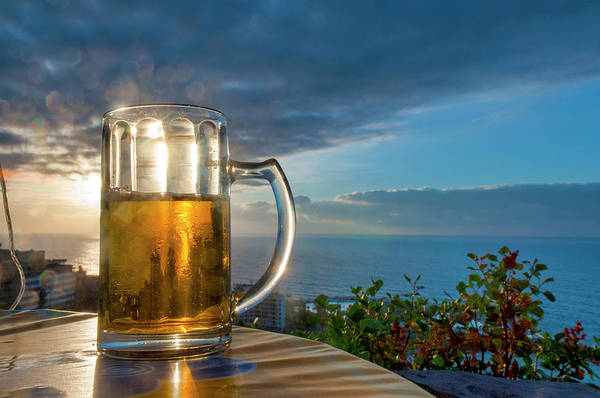 Photograph - Beer At Sunset by Fabrizio Troiani