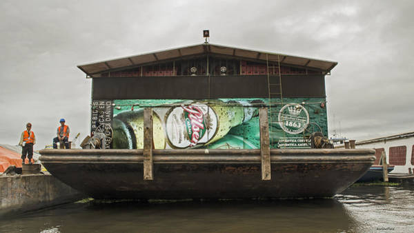 Photograph - Beer Barge - Iquitos, Peru by Allen Sheffield