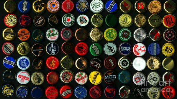Photograph - Beer Bottle Caps . 9 To 16 Proportion by Wingsdomain Art and Photography