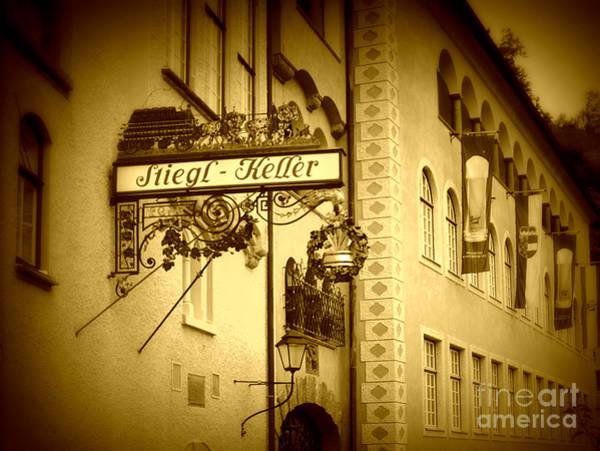 Cellar Digital Art - Beer Cellar In Salzburg by Carol Groenen