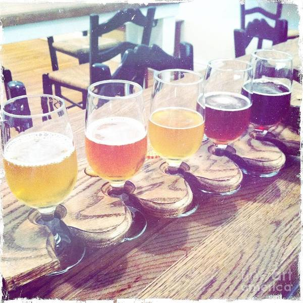 Wall Art - Photograph - Beer Flight by Nina Prommer