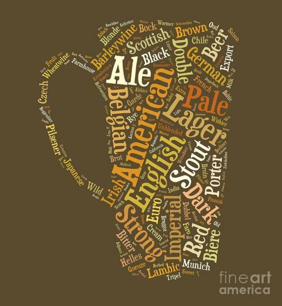 Digital Art - Beer Lovers Tee by Edward Fielding