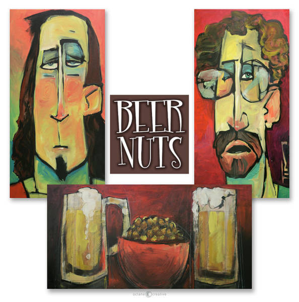 Painting - Beer Nuts Trio by Tim Nyberg