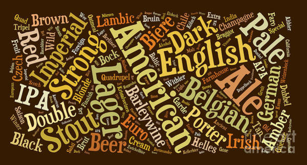 Photograph - Beer Word Cloud by Edward Fielding