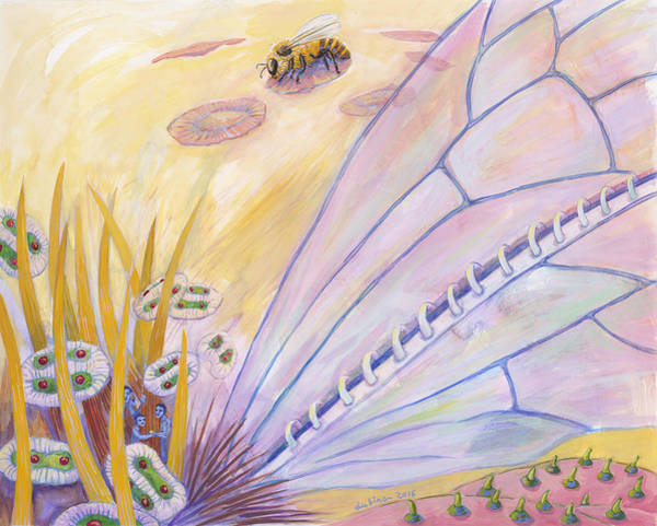 Painting - Bee's Wings by Shoshanah Dubiner