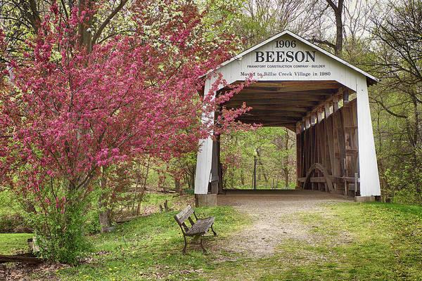 Photograph - Beeson Covered Bridge by Harold Rau