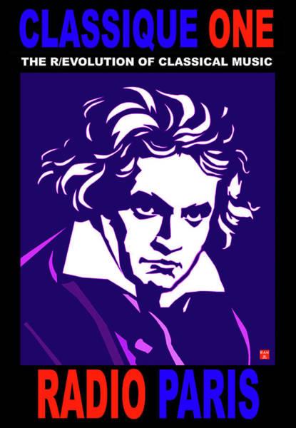 Digital Art - Beethoven Classique One Radio Paris  by Ran Andrews