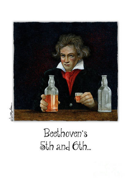 Painting - Beethoven's 5th And 6th... by Will Bullas