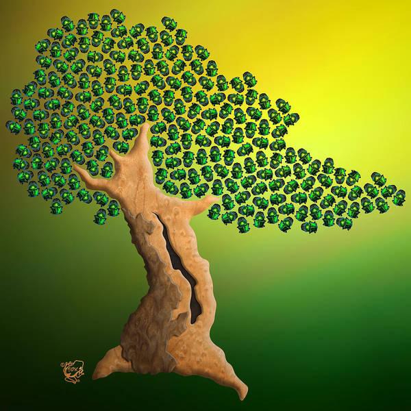 Bonsai Tree Digital Art - Beetle Bonsai by Stephen Kinsey
