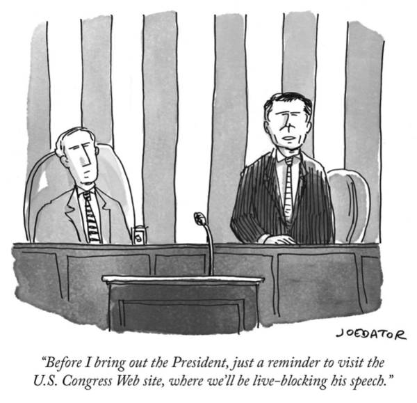 Social Media Drawing - Before I Bring Out The President by Joe Dator