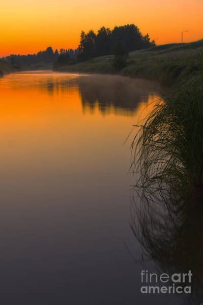 Salo Wall Art - Photograph - Before Sunrise On The River by Veikko Suikkanen