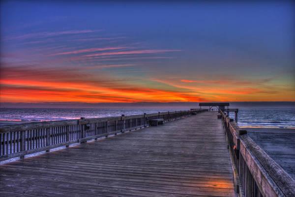 Photograph - Before The Dawn Tybee Island Pier Art by Reid Callaway
