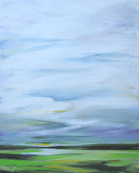 Painting - Before The Fields Have Finished by Outre Art  Natalie Eisen