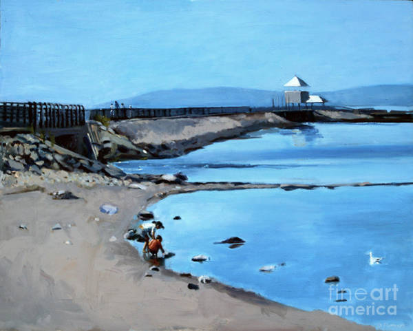 South Beach Painting - Before The Fog At Castle Island by Deb Putnam