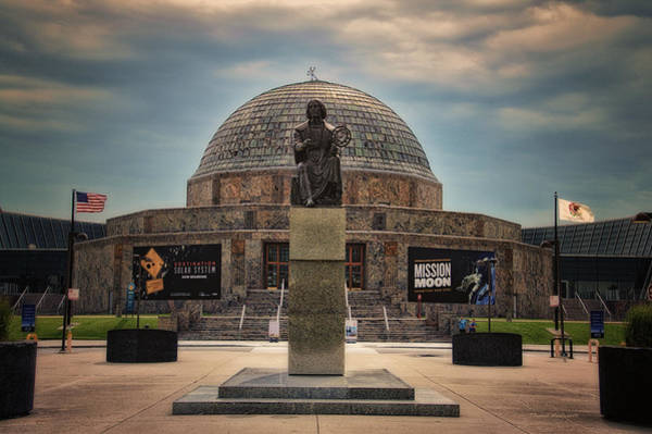 Cloud Cover Mixed Media - Before The Spring Storm Chicago Adler Planetarium by Thomas Woolworth