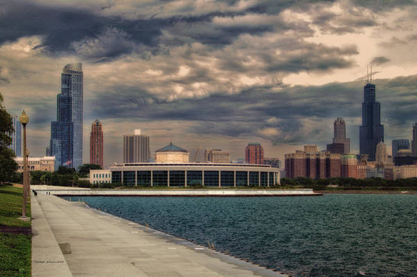 Cloud Cover Mixed Media - Before The Spring Storm Chicago Shedd Aquarium Eastside 01 B by Thomas Woolworth